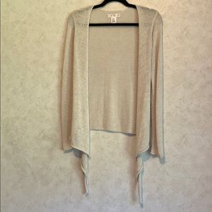 White House black market tiered waterfall cardigan